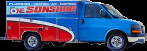 Dial One Sonshine Pluming & HVAC service van